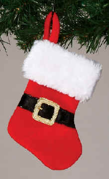 Velvet Santa Mini Stocking
