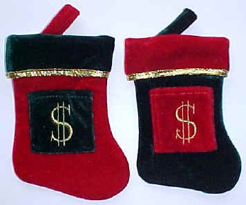 Dollar Sign Mini Stockings Velvet