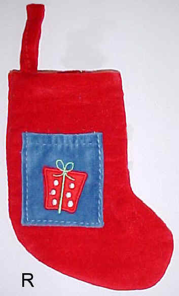 Red Velvet Mini Christmas Stocking