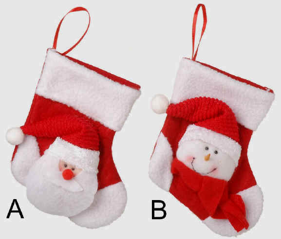 Santa and Snowman Mini Stockings