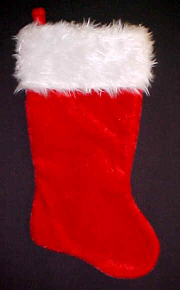 Velvet Plush Fur Top Christmas Stockings