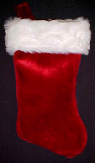 Burgundy PLUSH Xmas stocking