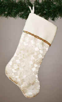 ivory jacquard Christmas stocking
