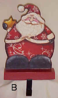 Wooden Santa Sock Holder