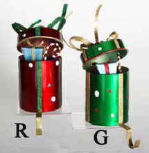 Gift Box Style Metal Stocking Holders